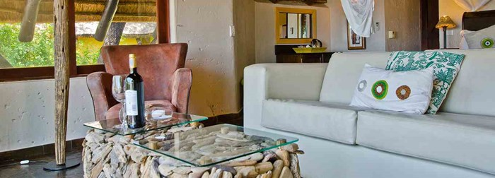 Tau Game Lodge Accommodation, Room Type 2: Deluxe Chalets