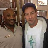Tumi Senne and Adam Sandler